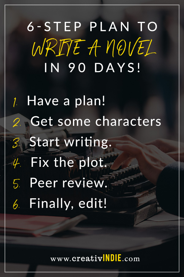 How To Write A Novel In 90 Days 6 Steps To Success