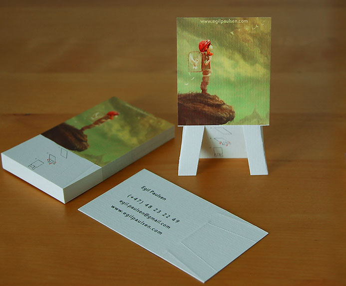 How to make a business card to promote your business or for Painting artist business cards