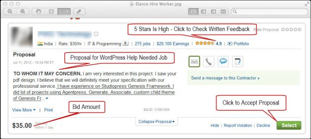 How to win more bids or choose a provider on Elance, Guru and other freelance sites