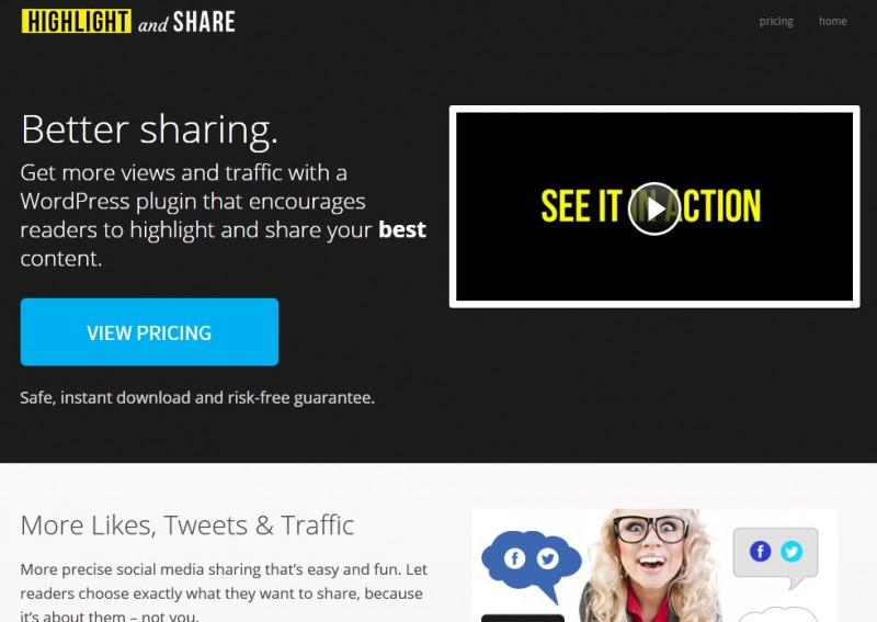 Highlight and social premium wordpress plugin