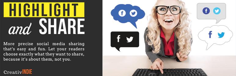 Premium Worpdress Highlight and Share Social Popup Plugin