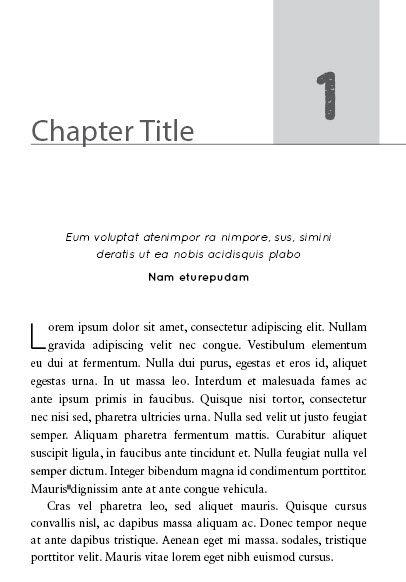 nonfiction book template layout design