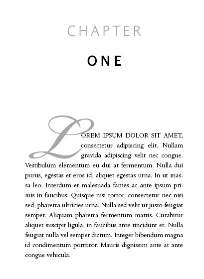 book layout formatting best fonts