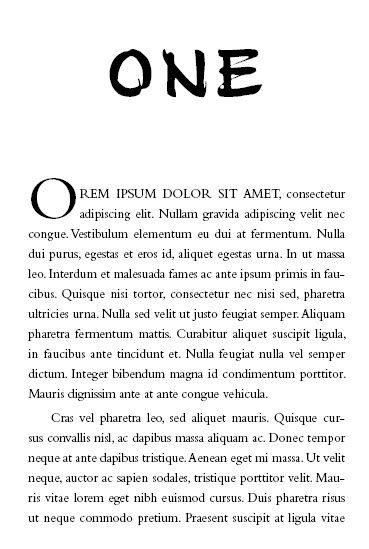 book design font combinations