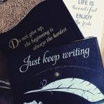 Bought myself some new journals amwriting