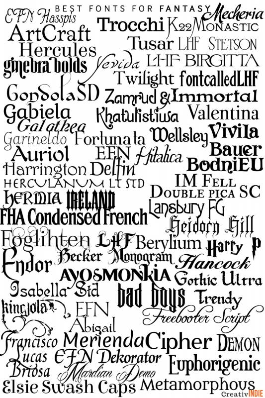 fantasy-533x800 What font should you use on your book cover design? Check this awesome list of best fonts per genre!
