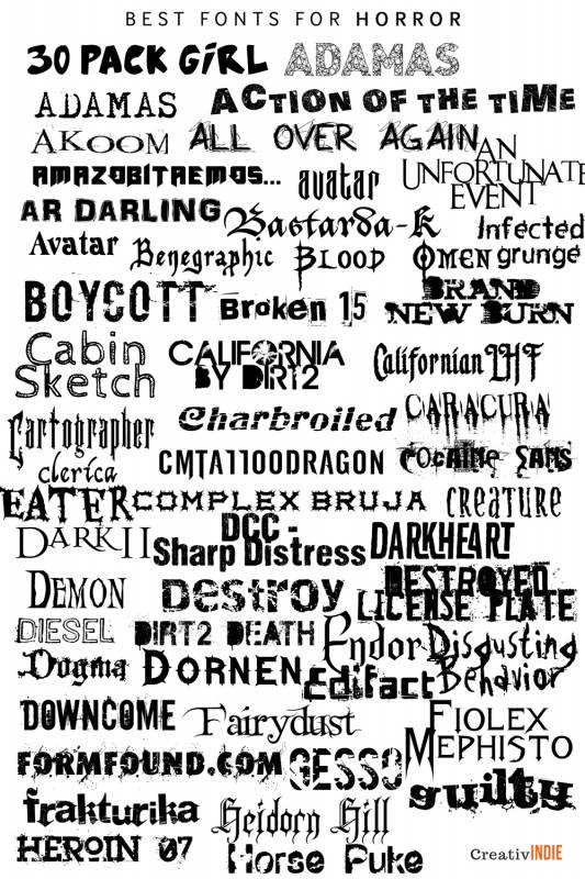 horror-533x800 What font should you use on your book cover design? Check this awesome list of best fonts per genre!