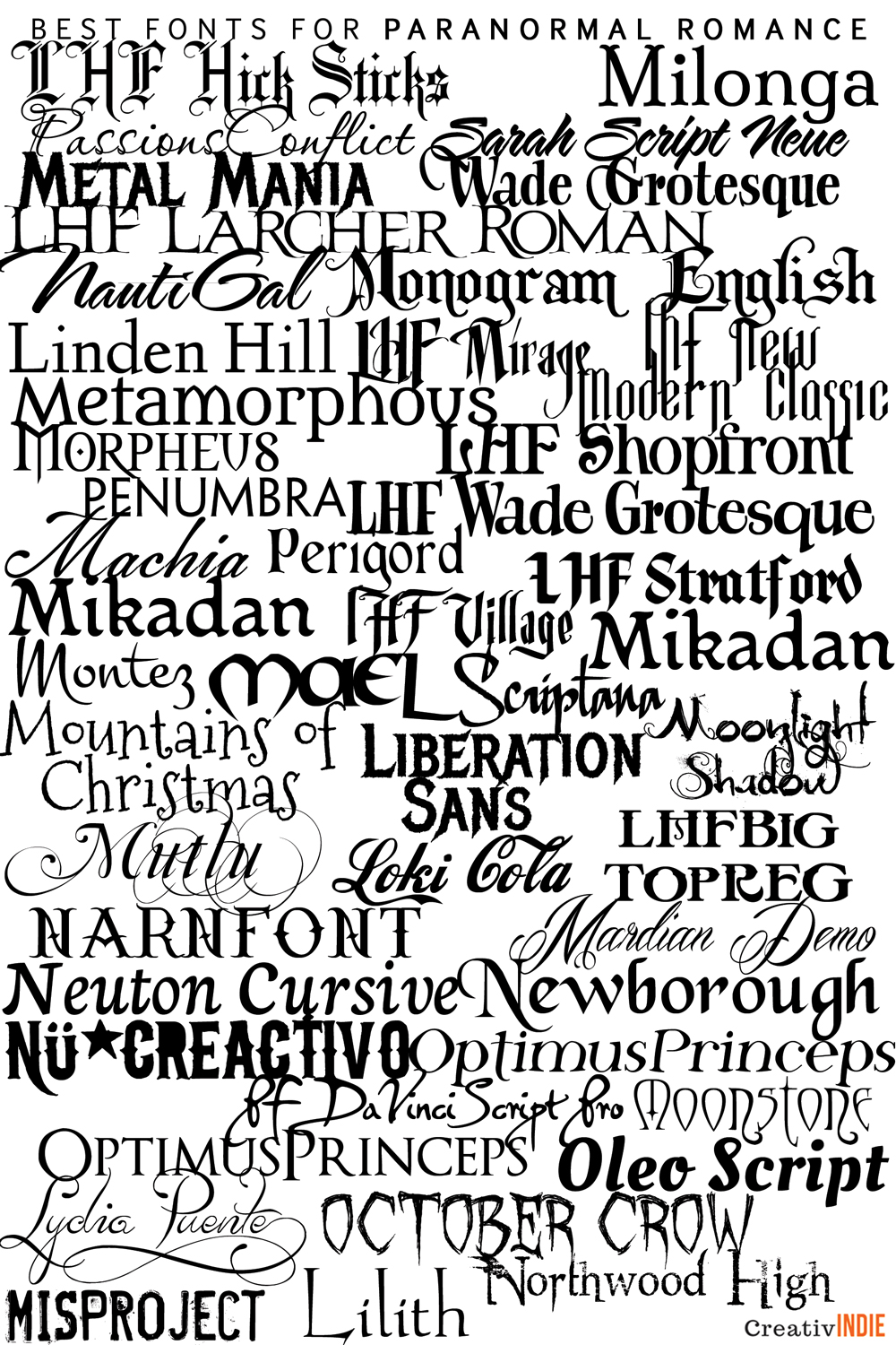 300+ Fool-Proof Fonts to use for your Book Cover Design (an