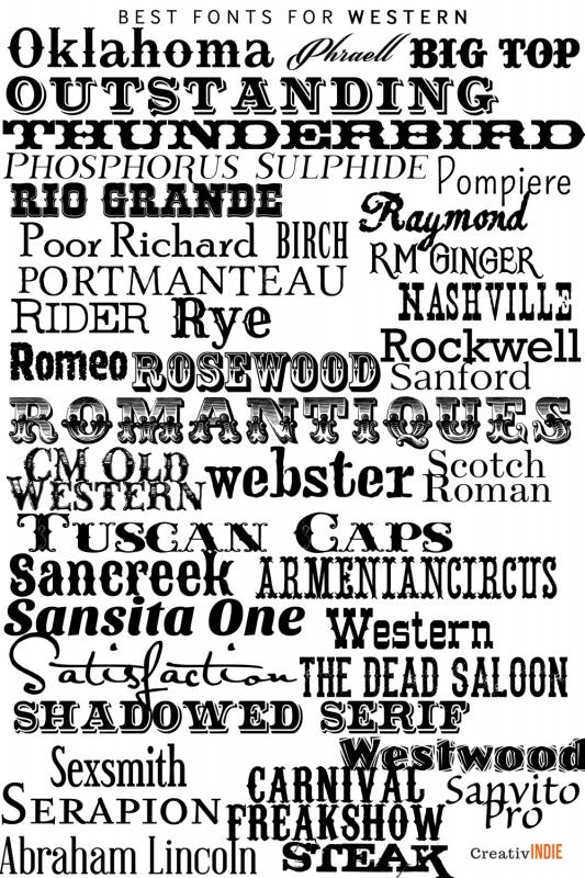 western-533x800 What font should you use on your book cover design? Check this awesome list of best fonts per genre!