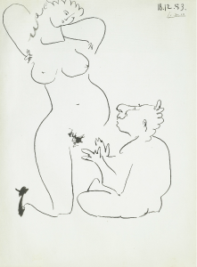Picasso+Femme+et+Nain