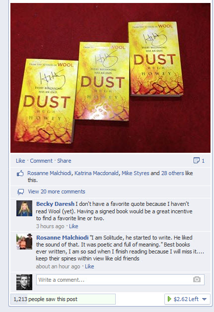 dust2 Why having a Facebook author page for your book is (mostly) useless