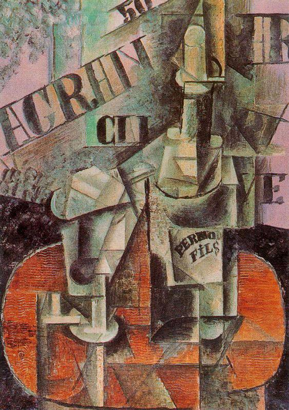 table-in-a-cafe-bottle-of-pernod-1912