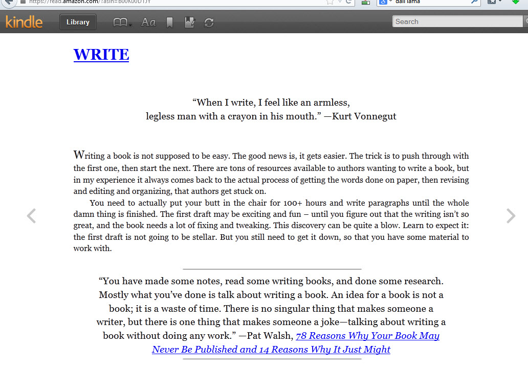 how to write a book for kindle format conversion