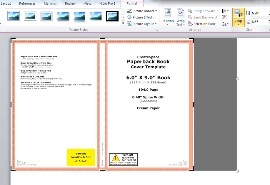 Book Cover Design Templates In Ms Word