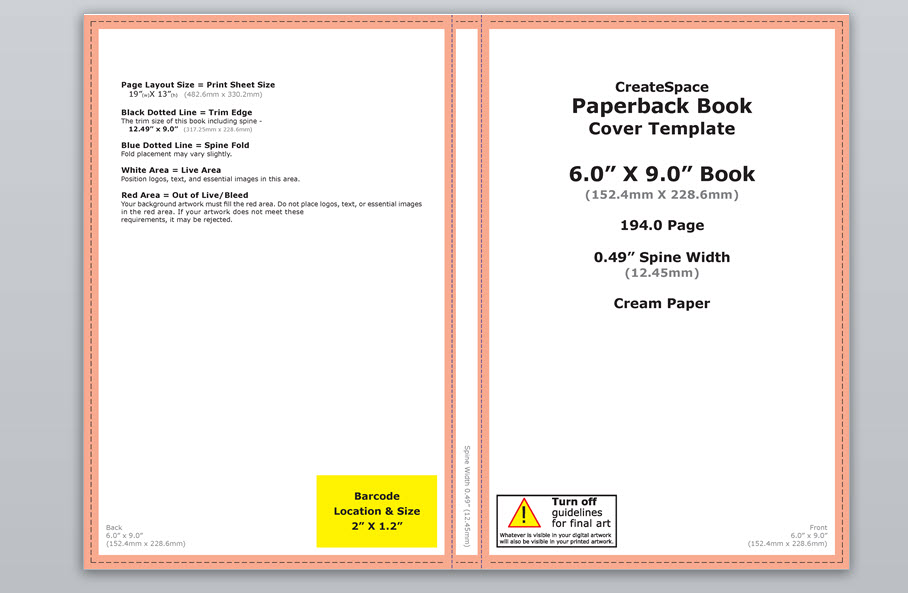 Book Cover Template In Photo ~ How to make a full print book cover in microsoft word for