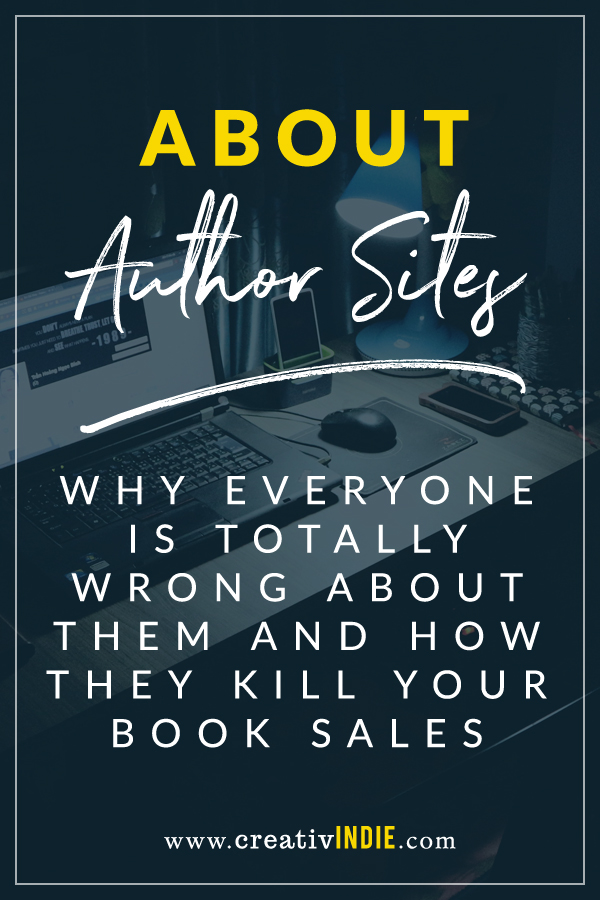 why everyone is wrong about author websites