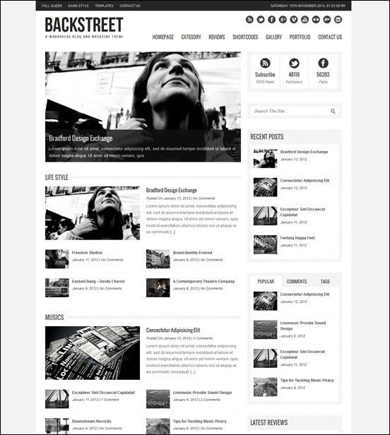 backstreet-author websites wordpress