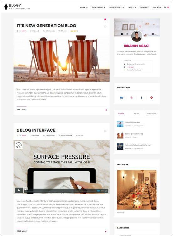 blogy-author websites wordpress