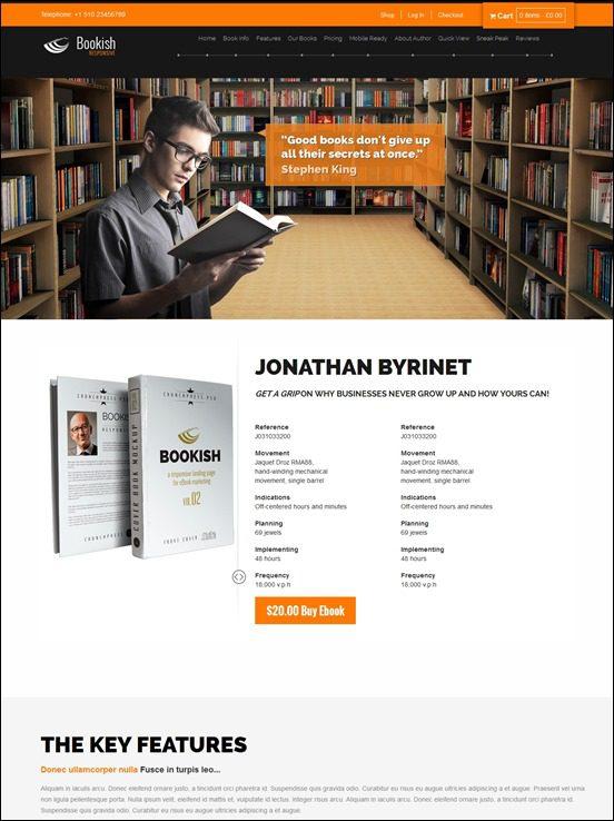 bookish-author websites wordpress