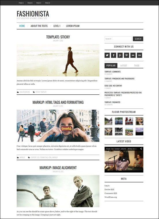 fashionista-author websites wordpress