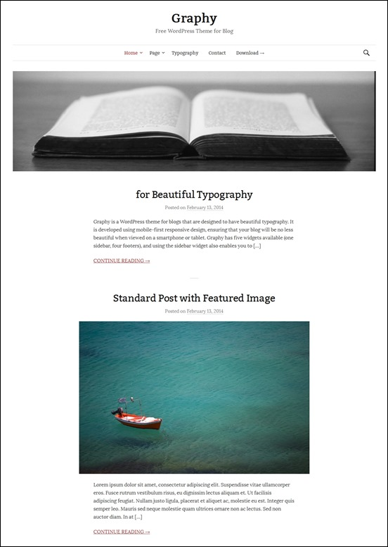 graphy-author websites wordpress