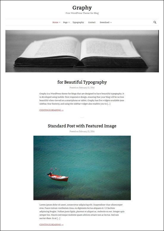 graphy-author websites wordpress