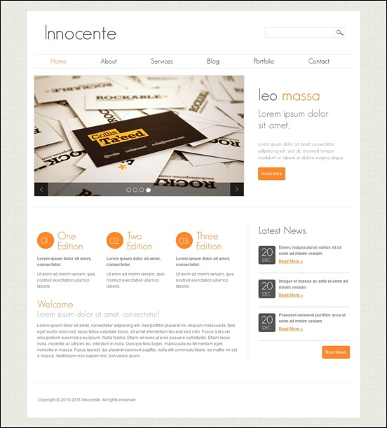 innocente-author websites wordpress