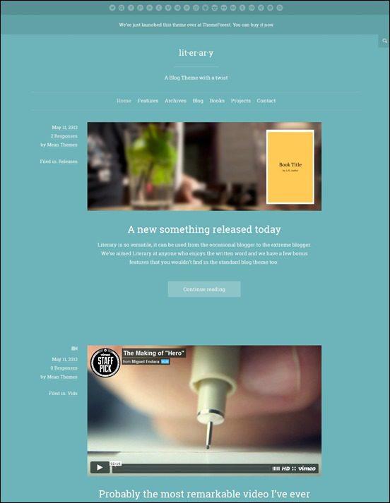 literary-author websites wordpress