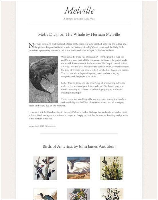 melville-author websites wordpress