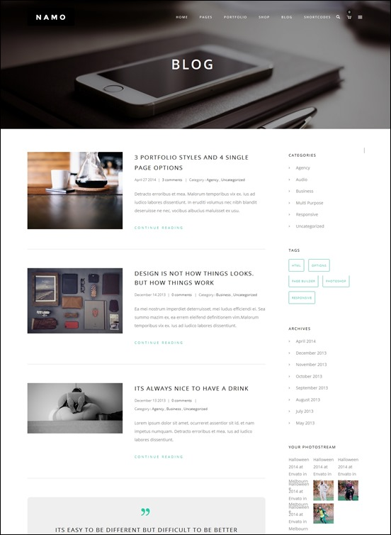 namoauthor websites wordpress