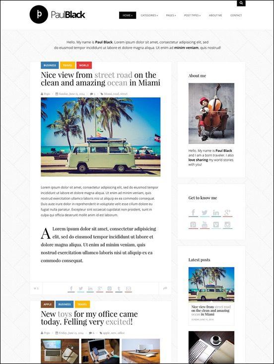 author websites wordpress
