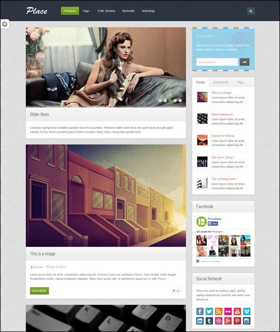 place-author websites wordpress