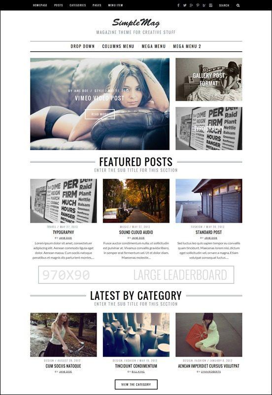 simple-mag-author websites wordpress