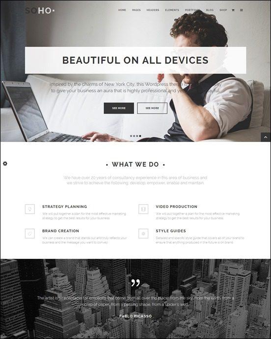 soho-author websites wordpress