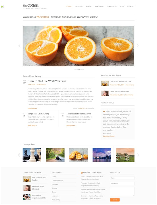 the-cotton-author websites wordpress