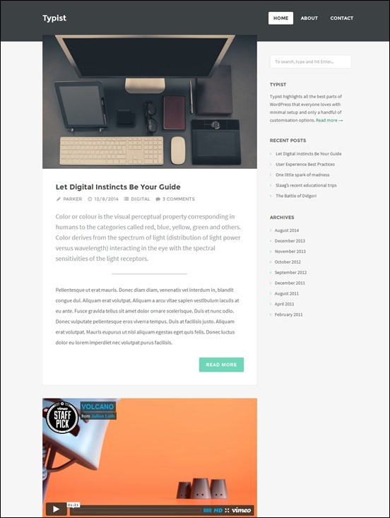 typist-author websites wordpress
