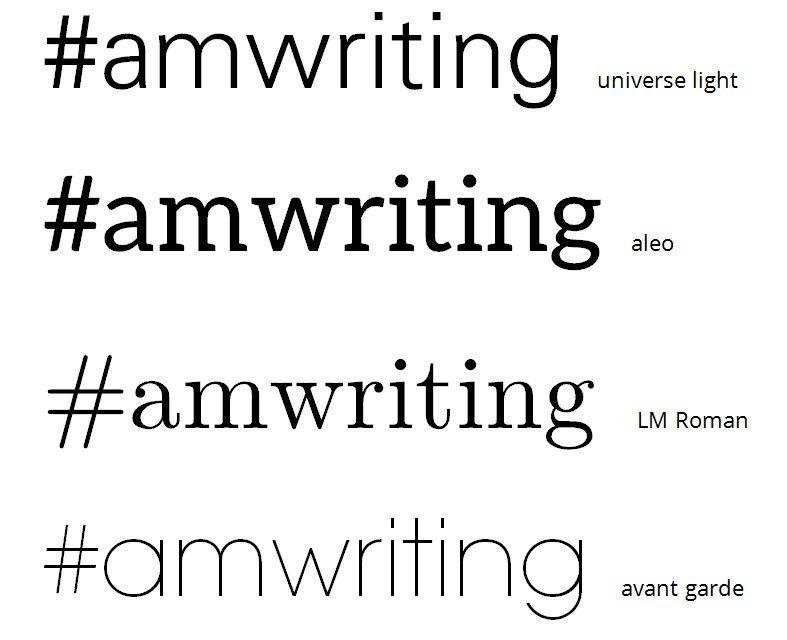 #amwriting hashtag