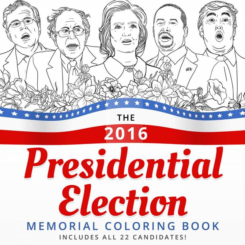 adult coloring book 2016 election