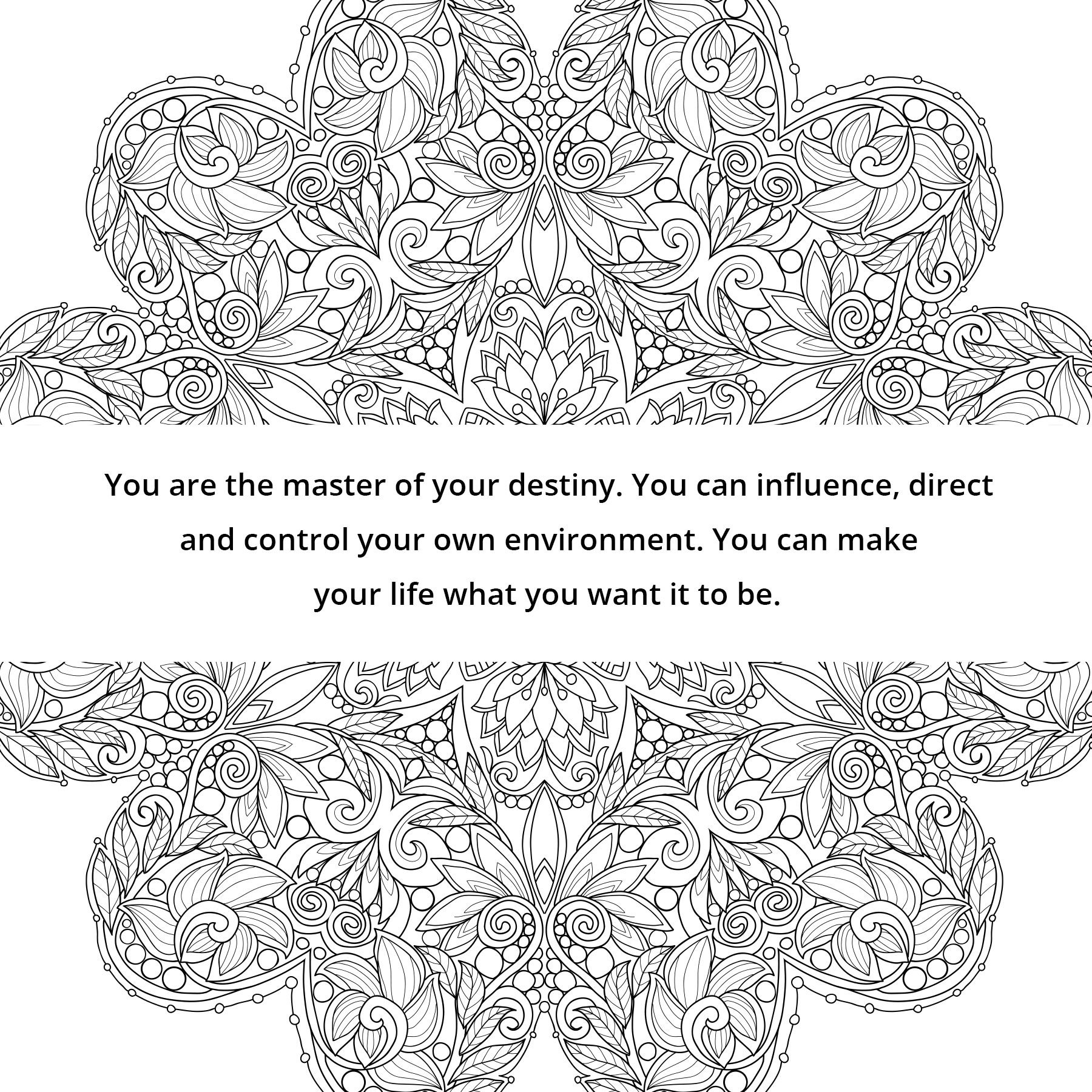 The Affirmations Coloring Book : Color and grow rich a coloring book based on napoleon