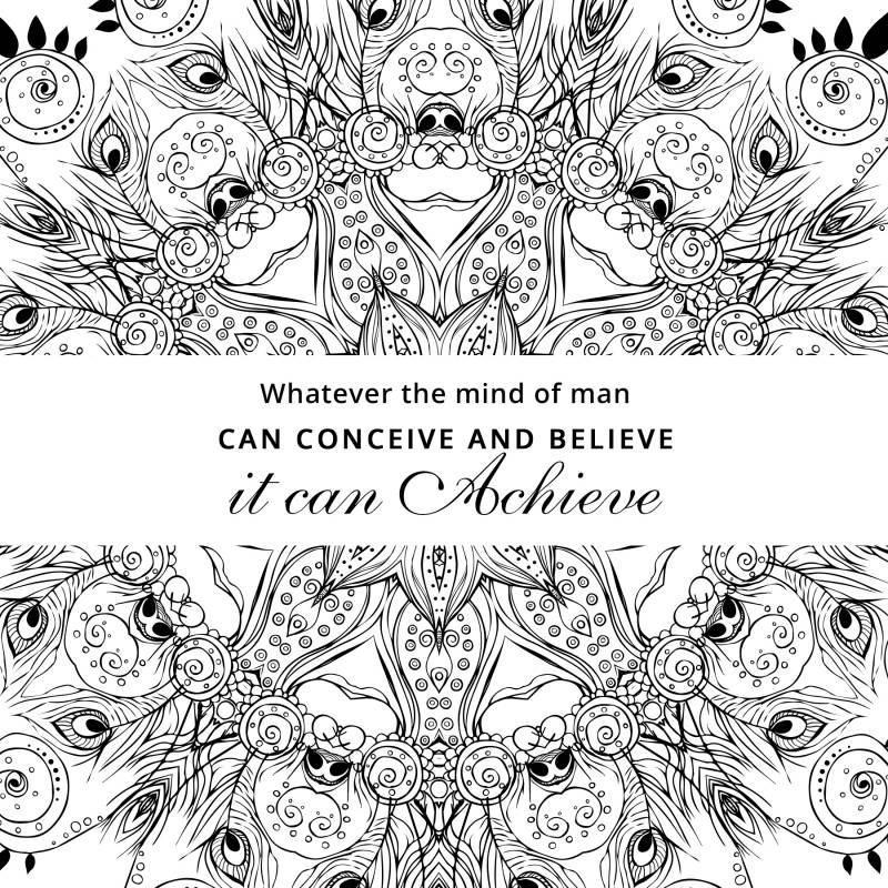 free coloring book pages think and grow rich