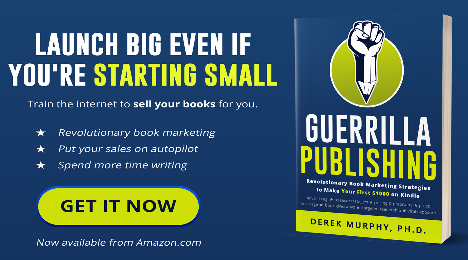 I missed my Kindle preorder window… so Guerrilla Publishing is free