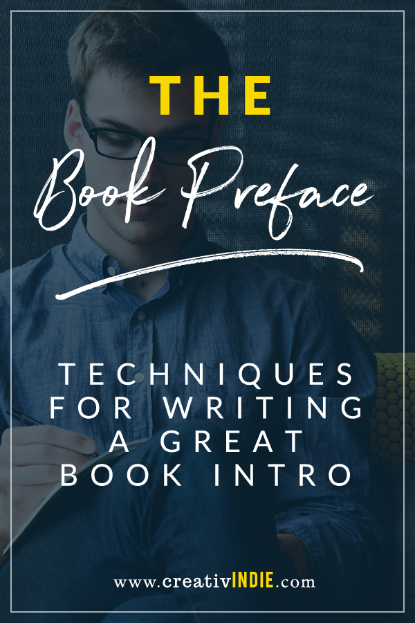 tips for writing the book preface